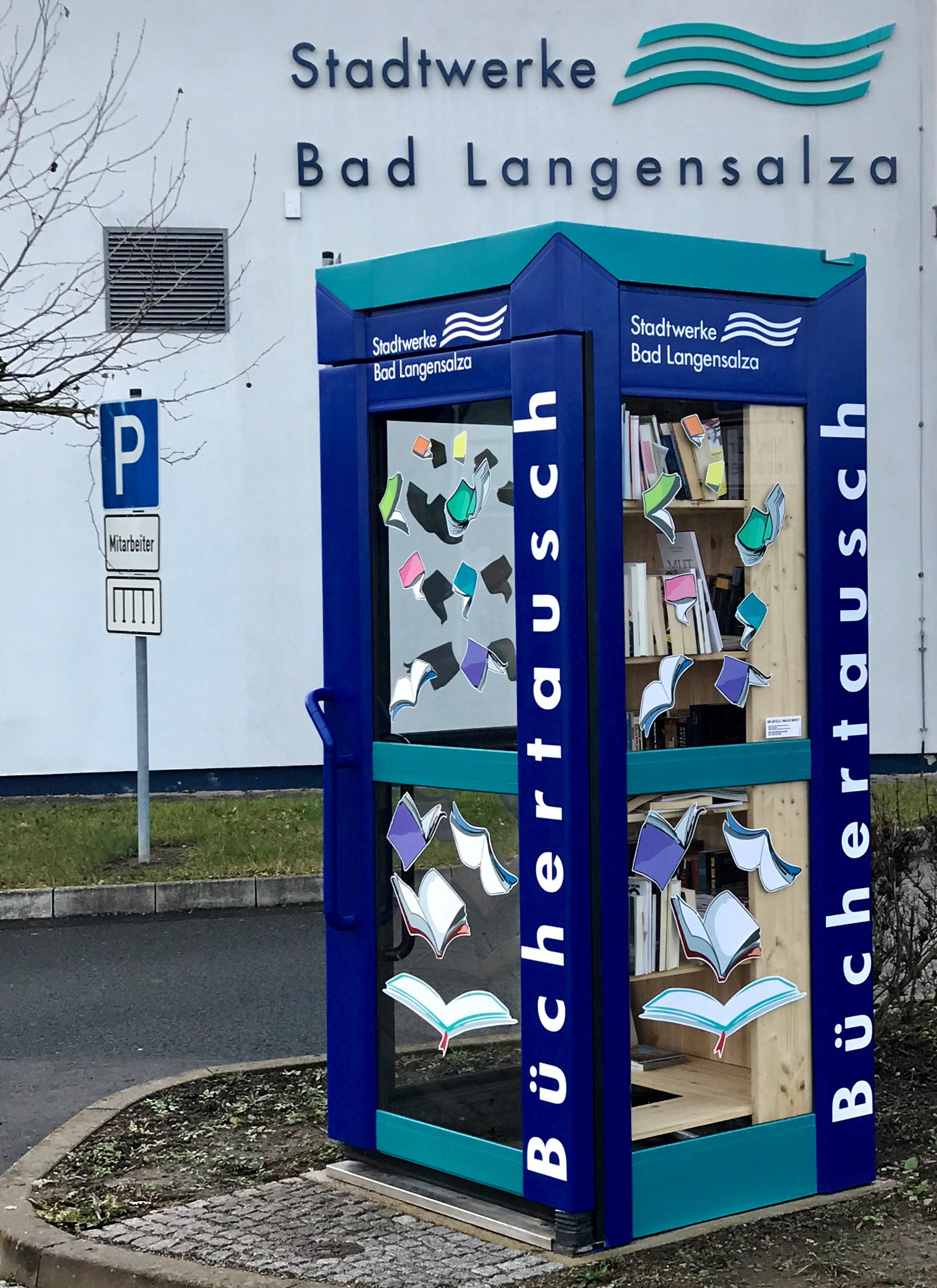 Büchertausch-Telefonzelle